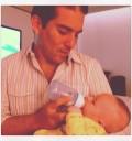 Fernando Reyna con Mateo