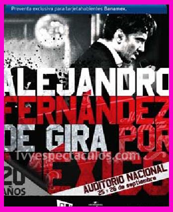 Anuncia Alejandro Fernandez nuevas fechas en el Auditorio Nacional