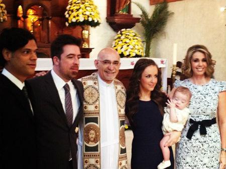 Jimena Pérez y Rafa Sarmiento bautizaron a su hijo Iker
