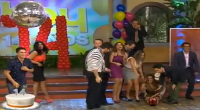 Galilea Montijo sufre caída en el programa Hoy