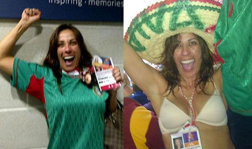 Consuelo Duval celebra el triunfo de la Selección Nacional en topless