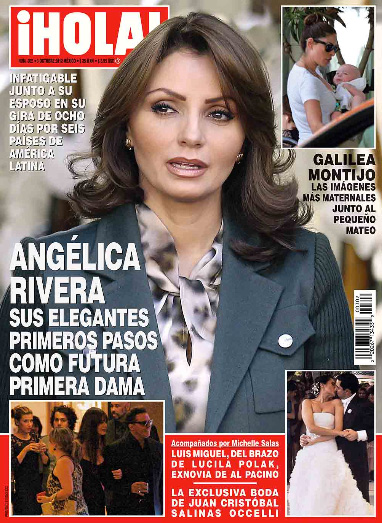 Angélica Rivera elegante rumbo a ser la Primera Dama de México