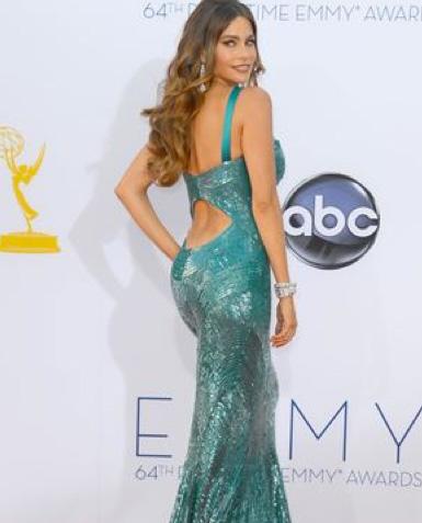 Sofía Vergara reventó su vestido en los Premios Emmy