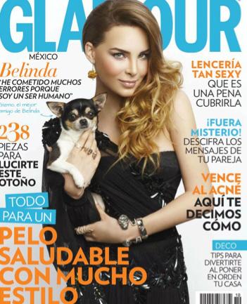 Belinda en la Revista Glamour