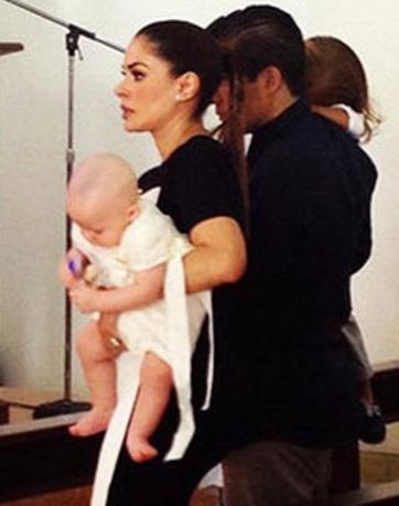 Galilea Montijo y Fernando Reina bautizaron a su hijo Mateo