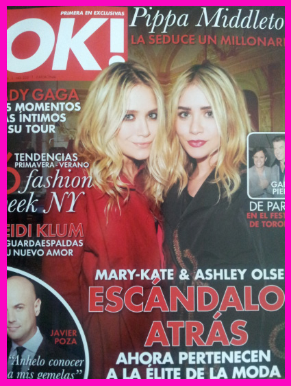Mary-Kate y Ashley Olsen en Revista OK!