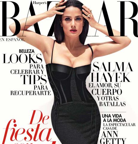 Salma Hayek en Revista Bazar