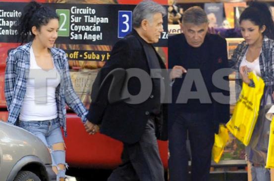 Héctor Suárez muy cariñoso con Brissia