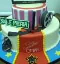 Pastel de cumpleaños de Omar Chaparro en Sabadazo