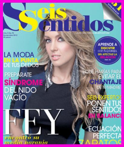 Fey en Revista Seis Sentidos