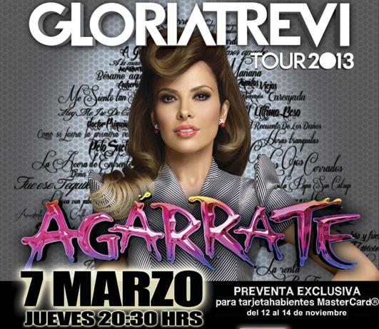 Gloria Trevi 7 de marzo de 2013 en Auditorio Nacional con Agárrate