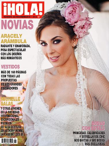 Aracely Arámbula vestida de novia para la Revista HOLA