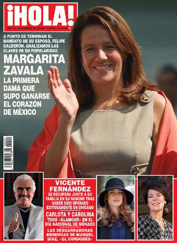 Margarita Zavala en Revista HOLA
