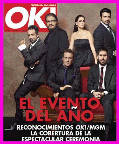 Portada de la Revista OK! con el reconocimiento de OK! y MGM