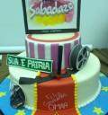 Omar Chaparro pastel de cumpleaños en Sabadazo