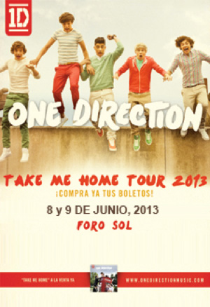 One Direction 8 de junio en Foro Sol