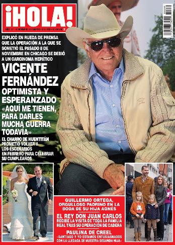 Vicente Fernández en Revista ¡HOLA!