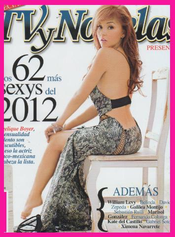 Los 62 m s sexys del 2012 de la revista tvynovelas tv y for Revistas de chismes del espectaculo