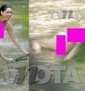 Cynthia Klitbo captada desnuda