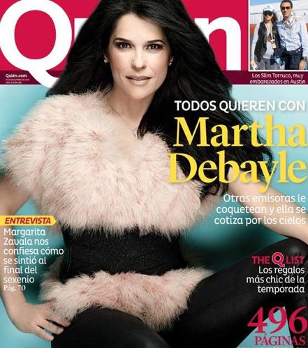 Martha Debayle en Revista Quién