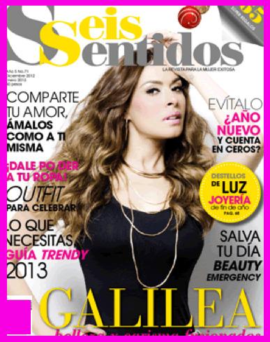Galilea Montijo en Revista Seis Sentidos