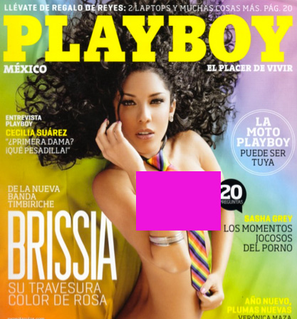 Brissia en Revista Playboy