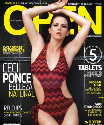 Ceci Ponce en Revista Open