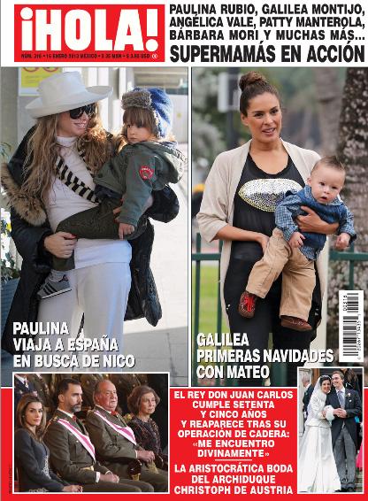 Paulina Rubio, Galilea Montijo, Angélica Vale y más mamás en acción en Revista ¡HOLA!