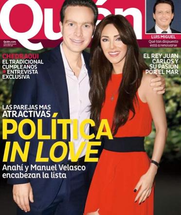 Anahí y Manuel Velasco en Revista Quién