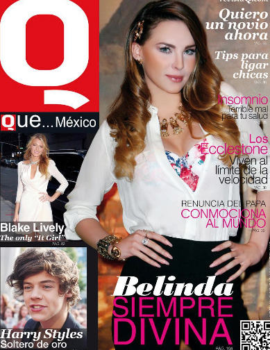 Belinda en Revista Que… México