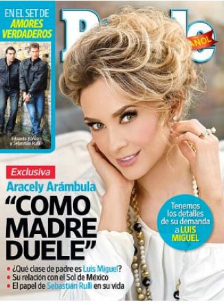 Aracely Arámbula demanda a Luis Miguel