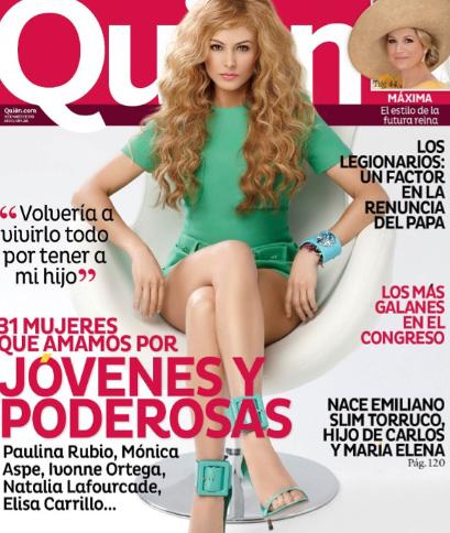 Paulina Rubio en Revista Quién