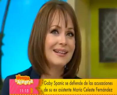 Gaby Spanic se defiende de las acusaciones de María Celeste