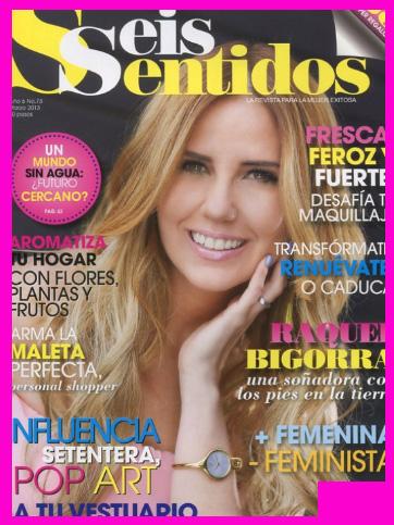 Raquel Bigorra en Revista Seis Sentidos