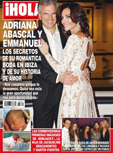 Las primeras imágenes de la hija de Jacqueline Bracamontes en Revista HOLA