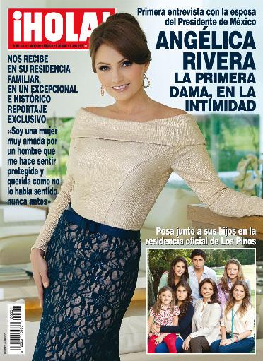 Angélica Rivera en Revista HOLA desde Los Pinos