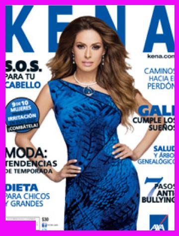 Galilea Montijo en Revista Kena