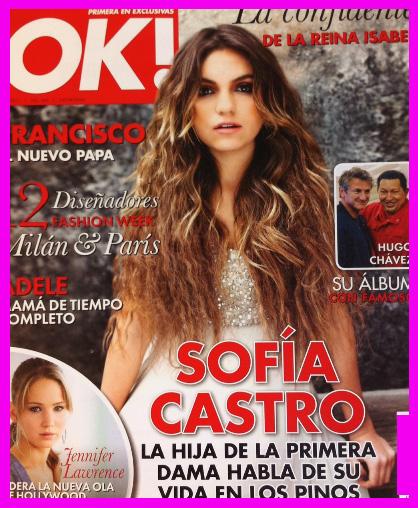Sofía Castro en Revista OK!
