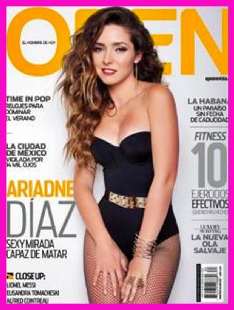 Ariadne Díaz en Revista Open