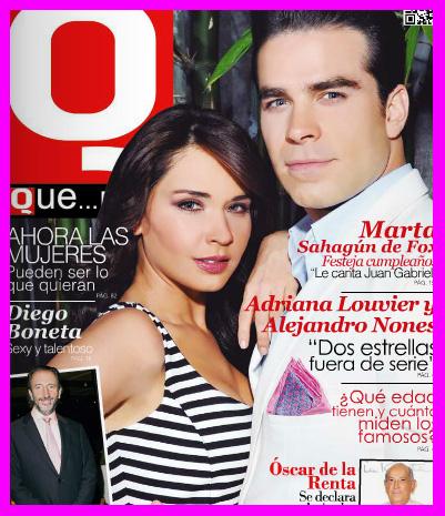 Adriana Louvier y Alejandro Nones en Revista Que… México