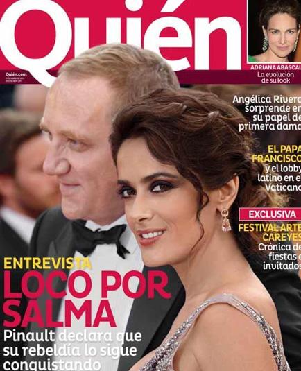 Salma Hayek y François-Henri Pinault en Revista Quién