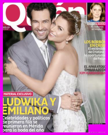 La boda de Ludwika Paleta y Emiliano Salinas en Revista Quién