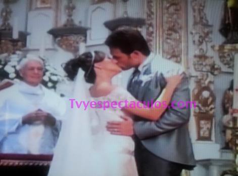 Imágenes de la boda de Liliana con Guzmán en Amores Verdaderos