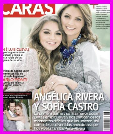 Angélica Rivera y Sofía Castro en Revista Caras