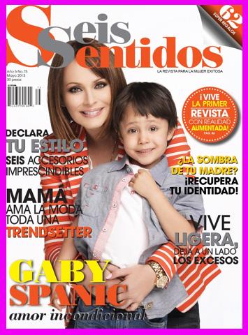 Gaby Spanic con su hijo en Revista Seis Sentidos