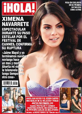 Ximena Navarrete nuevamente soltera