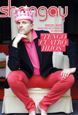 Miguel Bosé en revista Shangay