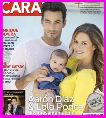 Aarón Díaz presenta a su hija en Caras
