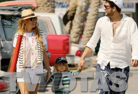 Paulina Rubio y Gerardo Bazúa de vacaciones