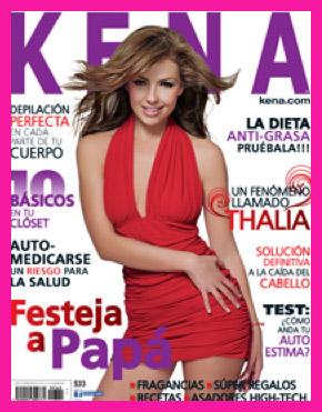 Thalía en Revista Kena